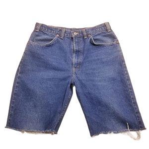 Vintage Levi's 619 Orange Tab Knee Length Shorts